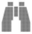 find binoculars halftone icon vector image vector image