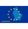 Flag of European Union with Luxembourg on vector image