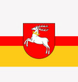flag of lublin in southeastern poland vector image vector image