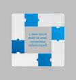 four blue pieces puzzle infographic 4 steps vector image