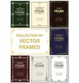 frame set art deco geometric ethnical vector image