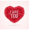 Fur Banner Heart Love You Valentine Concept Card vector image vector image