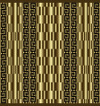 gold textured greek 3d seamless pattern vector image