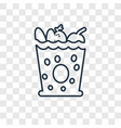 groceries concept linear icon isolated on vector image