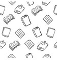hand drawn books doodles seamless background vector image vector image