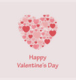 happy valentines day heart background vector image
