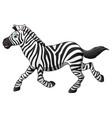 happy zebra cartoon running vector image