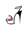 high heel shoe symbol icon vector image