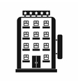Hotel building icon simple style vector image vector image