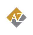 initial az rhombus logo design vector image vector image