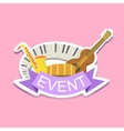 Jazz Concert Event Template Label Cute Sticker vector image vector image