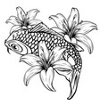 koi fish drawing vector image vector image