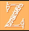 laser cut template initial monogram letters vector image vector image