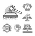 law company logotypes collection in grey color vector image vector image