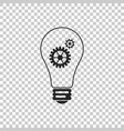 light lamp icon isolated on transparent background vector image