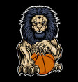 lion aggry playbasketball drawing background vector image vector image