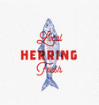 local fresh herring abstract sign symbol vector image vector image