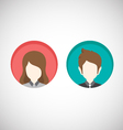 Male and Female icons Flat style vector image