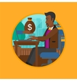 Man earning money from online business vector image vector image