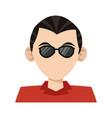 man faceless profile cartoon vector image vector image