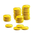 Many gold coins vector image