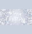 merry christmas greeting card blue abstract vector image vector image