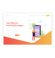 mobile marketing landing page template banking vector image vector image