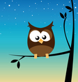 owl in a tree vector image vector image