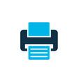 printer icon colored symbol premium quality vector image vector image
