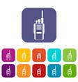 radio icons set vector image vector image