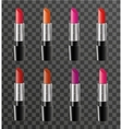 Realistic lipstick package template for your vector image vector image