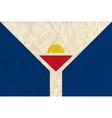 Saint-Martin paper flag vector image
