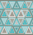 seamless pattern tribal triangles vector image vector image