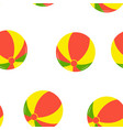 seamless pattern with beach balls vector image vector image
