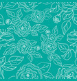 seamless pattern with hand-drawn gentle roses vector image vector image