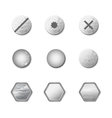 set of metal screws and bolts vector image
