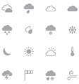 Set of minimalistic weather icons for web and vector image vector image