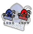 skull grim reaper esport logo with smoke smoke vector image