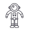 spaceman line icon sign on vector image vector image