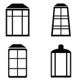 Street lamps icon set vector image vector image