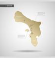 stylized bonaire map vector image vector image