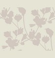 subtle seamless pattern with drawn flowers plants vector image vector image