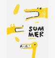 summer child typographic grunge vintage poster vector image