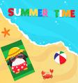 Summer Penguin vector image vector image