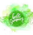 summer watercolor design typography vector image vector image