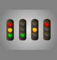 traffic light set icon for webmasters vector image
