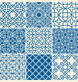 turkish texture semless patterns vector image vector image