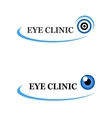 two icons of eye clinic vector image vector image