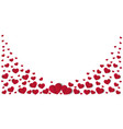valentine s day background with many red hearts vector image
