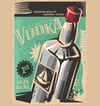 vodka retro drinks poster design vector image